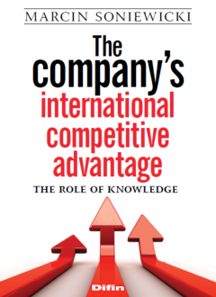 The company's international competitive advantage - the role of knowledge