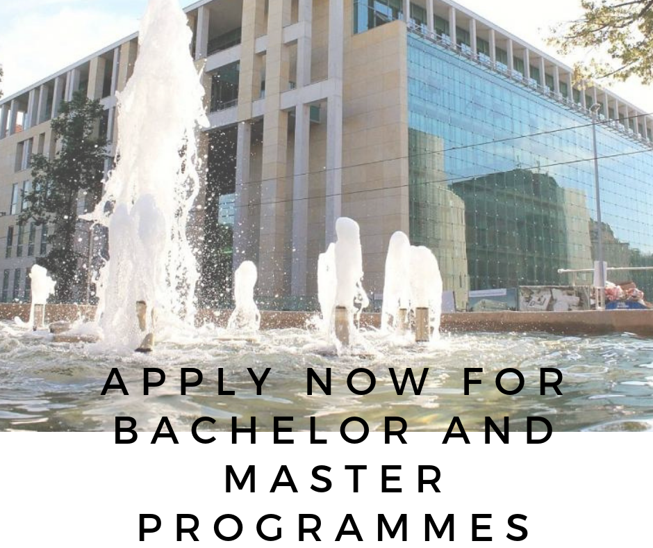 Apply for Bachelor and Master programmes